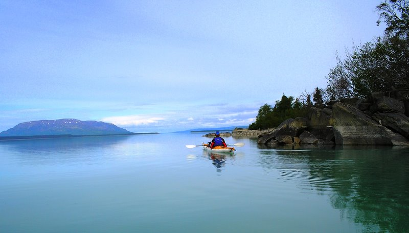 paddling in  Katmai National Park